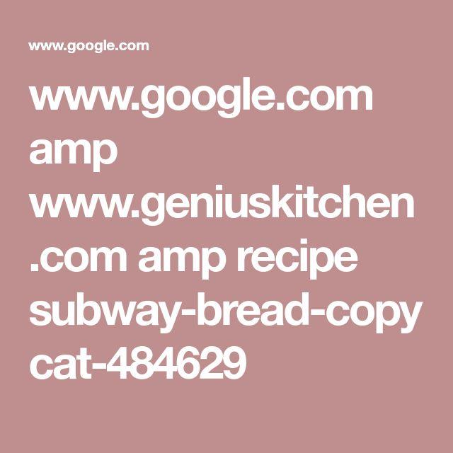 Best 25+ Subway Bread Ideas On Pinterest