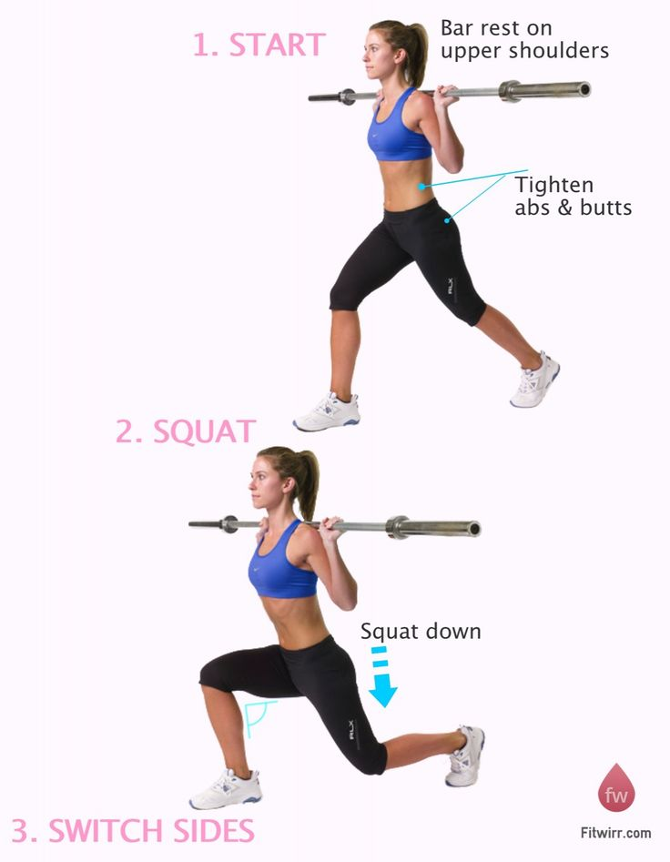 Learn to perform barbell split squat with good techniques