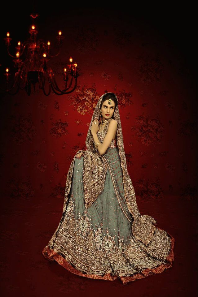 Lajwanti Bridal Wear 2012 & Kundan Jewelry #Pakistani