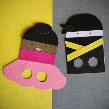 Ninja and Ballerina Paper Finger Puppets   -Repinned by Totetude.com