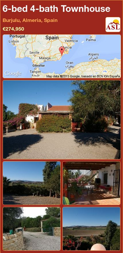 6-bed 4-bath Townhouse in Burjulu, Almeria, Spain ►€274,950 #PropertyForSaleInSpain