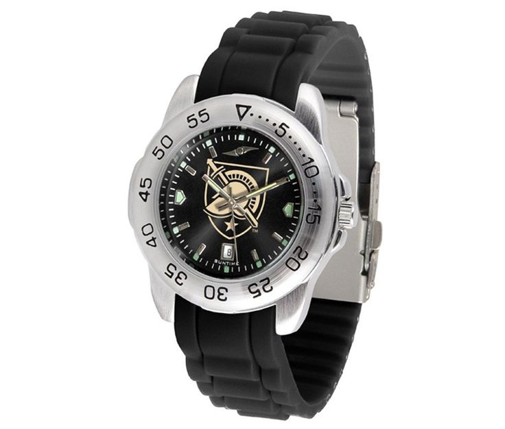 The Sport AnoChrome USMA Black Knights Watch is available in a Mens style. Showcases the Black Knights logo. Color-coordinated silicone band. Free Shipping. Visit SportsFansPlus.com for Details.