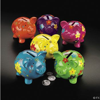 17 best images about piggy banks on pinterest orange for How to paint a ceramic piggy bank