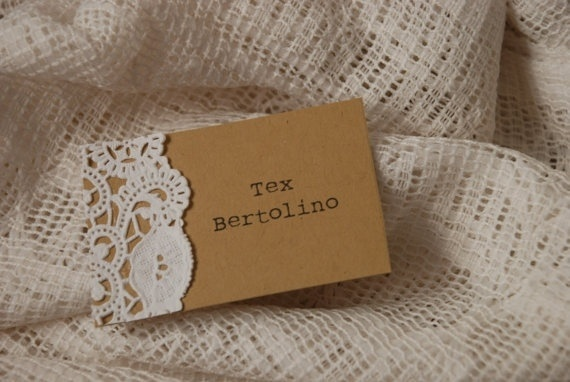 Lace Name Tags- but with polk a dots, too!