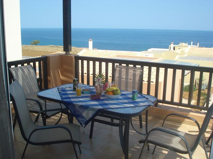 Rethymno apartment rental - Fine sea views from the balcony!