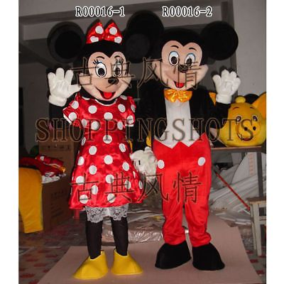 MICKEY MOUSE Mascot Costume Fancy Dress EVENING R00016 adult one size Cartoon