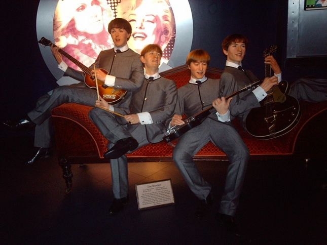 The Fab Four, Madame Tussaud's Wax Museum: London, England. Had our photo taken with them