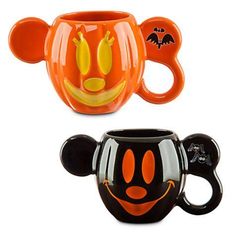 Mickey and Minnie Mouse Halloween Mug Set - Walt Disney World