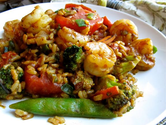 Cajun shrimp and rice...Make this with brown rice for a super heathy meal idea. Low carb high protein great fiber!!! A must try.