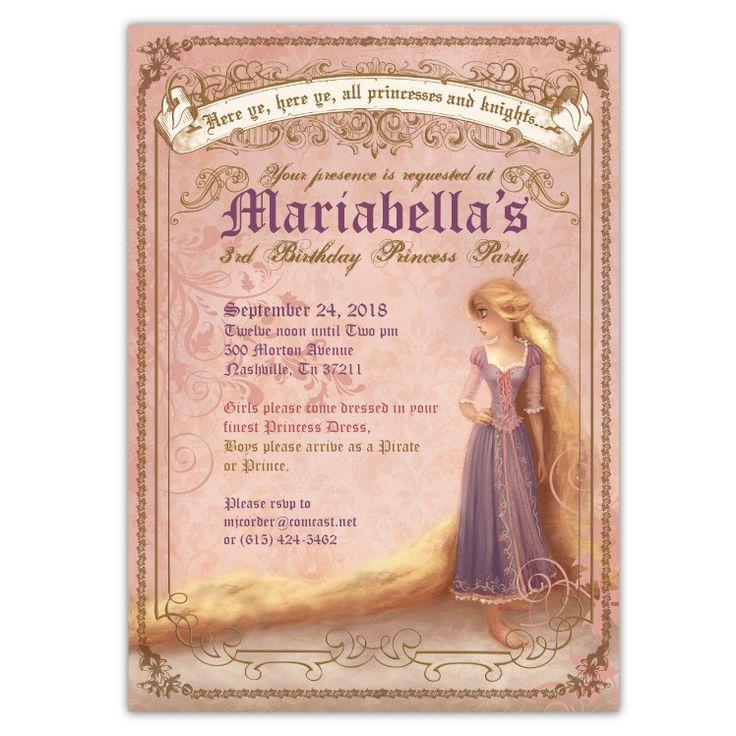 Vintage Rapunzel Invitations (A)                                                                                                                                                     More