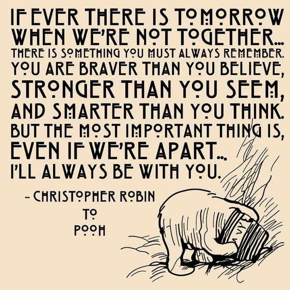 Vinyl Wall Decal Sticker Art - I'll Always Be With You - Winne the Pooh quote - Medium