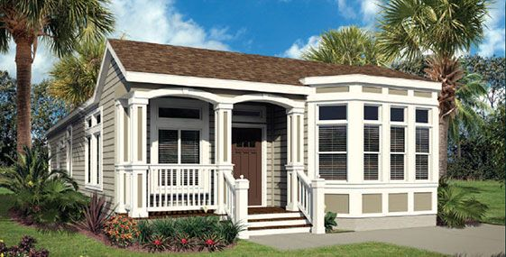 Architecture, White Modular Home With Some Trees Around And Large Home Yard And Some Wndows: Meet The Best Modular Home Builders