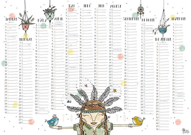 Wandkalender - Öko-Wandkalender 2018 in DIN A2 - ein Designerstück von Iloveyoulaugh bei DaWanda