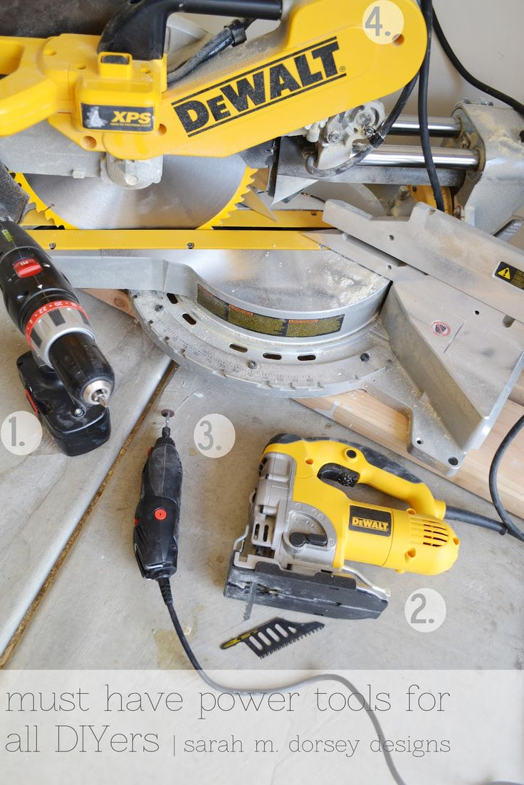 Working with pallets 5 essential woodworking power tools that won - Sarah M Dorsey Designs My Diy Must Haves Power Tools
