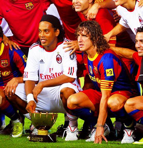 FC Barcelona ( Gamper Trophy ) with Ronaldinho