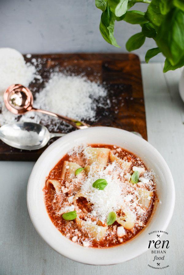 Pizza Pasta Soup