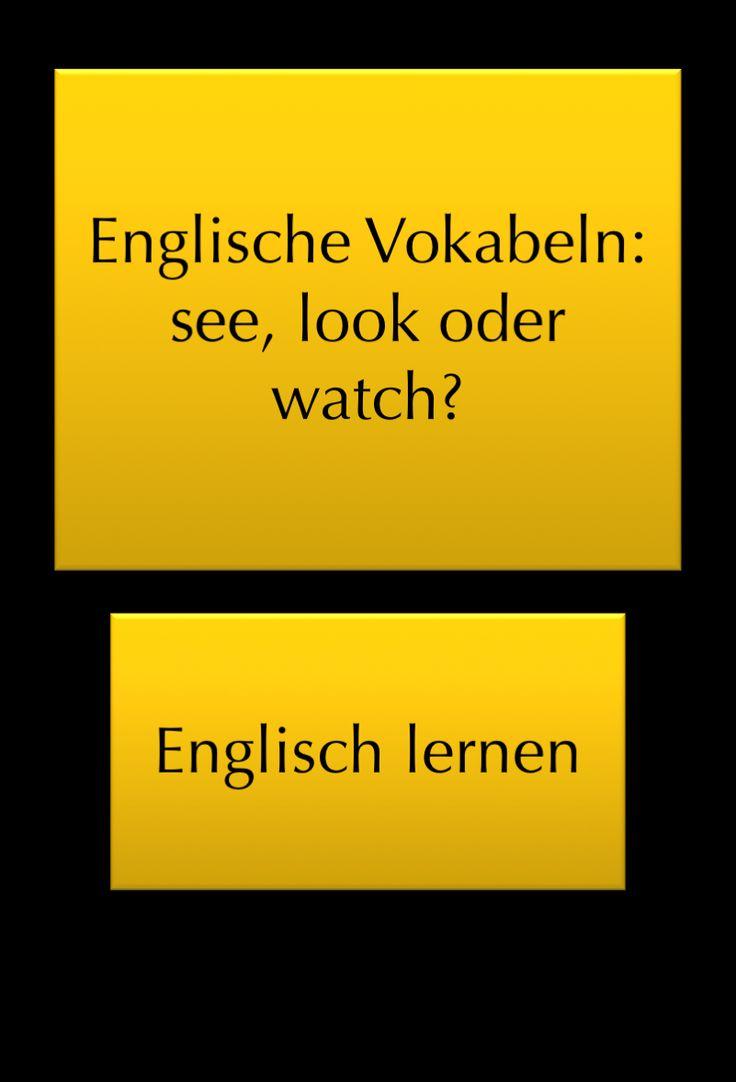 Sehen Englisch