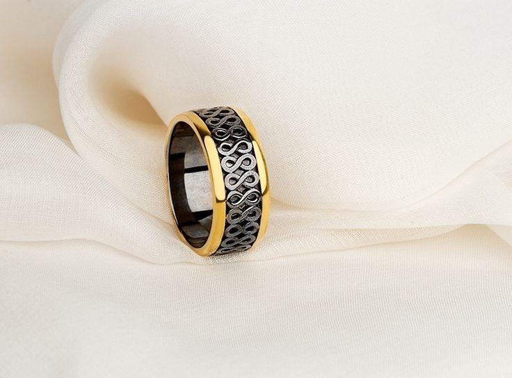 Обручальное кольцо из серебра фото