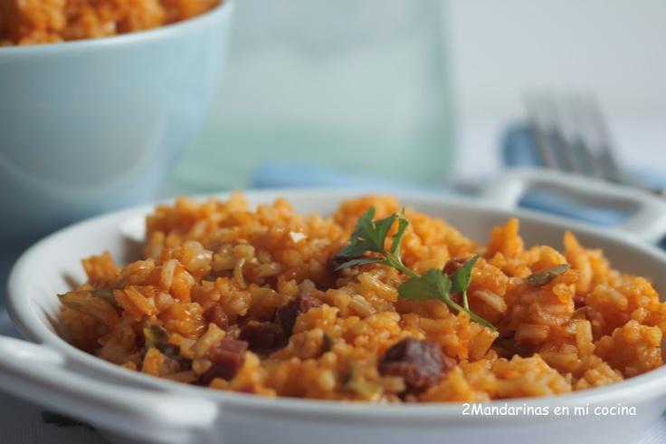 Arroz con alcachofas y tomate en el blog de Mandarinas en mi cocina #recetas #nestlebloggers