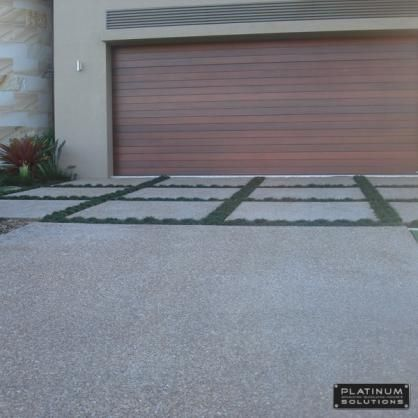A great way to break up a concrete driveway #paving #driveway #PropertyRepublic www.propertyrepublic.com.au