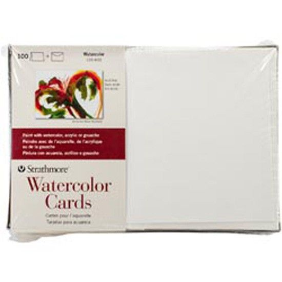 "Strathmore Watercolor Cards 5""X7"" 100/Pkg-"