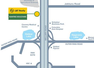 L&T Realty Raintree Boulevard Location Plan