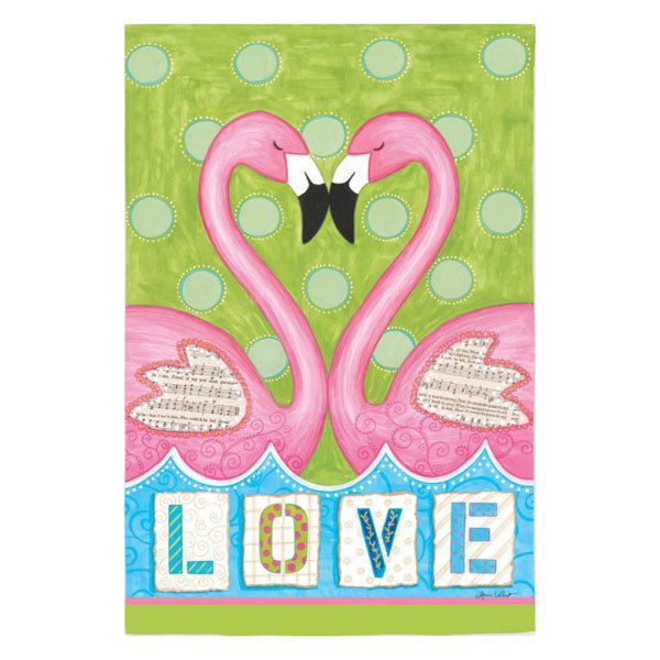 TropicalBreezeDecor - Love Flamingos House Flag 13S2398, $22.49 (http://tropicalbreezedecor.com/love-flamingos-house-flag-13s2398/)