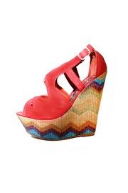 Zigzag Platform Wedge SandalsWedgesmi Shoes, Platform Wedges, Fashion, Chevron Wedges, Wedge Sandals, Wedges Shoes, Zigzag Platform, Wedges Sandals, Beautiful Clothing