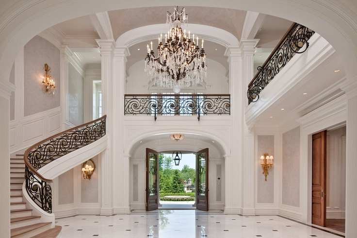 Beautiful Mansion Foyers : Stone mansion foyer alpine nj foyers n entryways