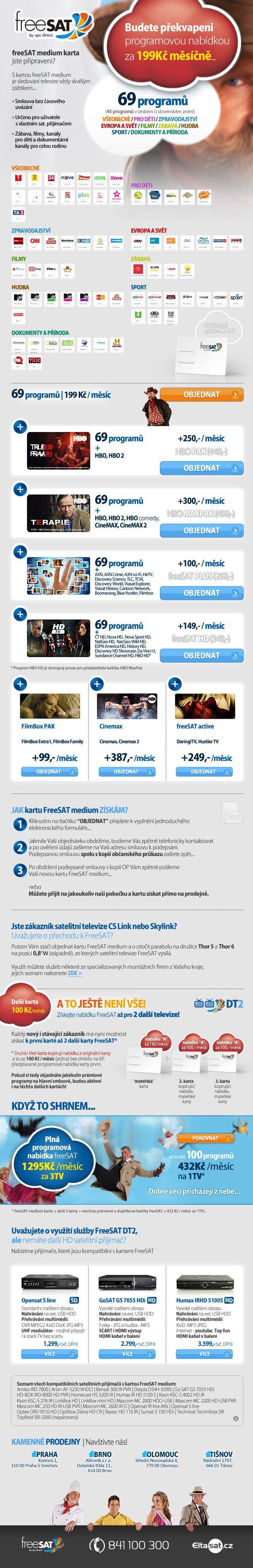 Nabídka satelitní platformy Freesat (2013)