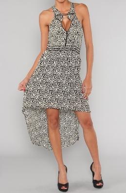 'Monochrome' Dress with razor back