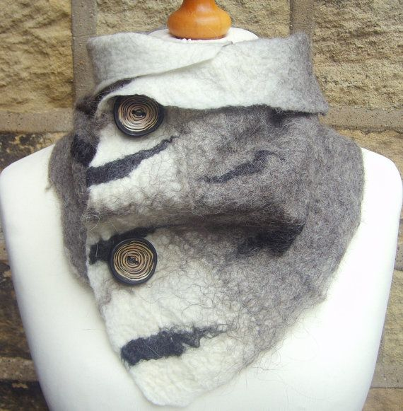 Wool Felted scarf felted scarf British wool by Beautifulfelts, £27.50                                                                                                                                                                                 More