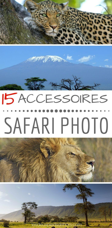 Vous partez faire un safari en Afrique, en Amérique centrale ou en Europe, je vous propose ma liste des 15 accessoires indispensables à ne pas oublier. Cette liste se base sur mon expérience d'une semaine en safari en Tanzanie #safari #voyage #voyager #tanzanie #afrique #photographie #photo