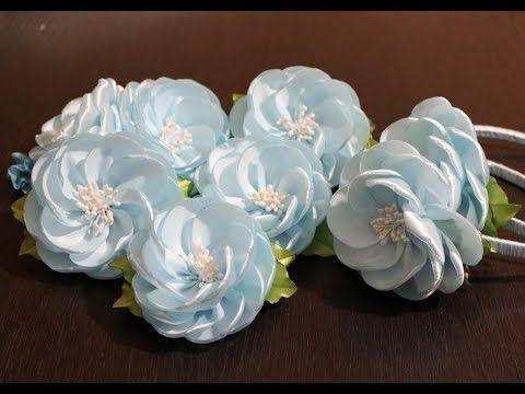 Цветы из Лент Своими Руками |KANZASHI - YouTube