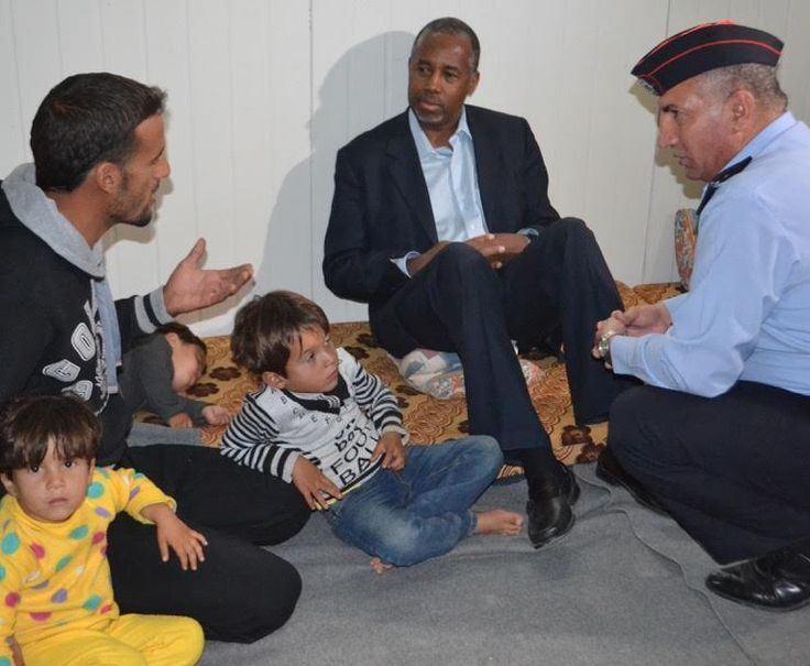 Dr Ben Carson Spoke To A Refugee Family That Came Jordan For Safety