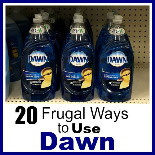 Did you know that Dawn can be used for much more than just dishes? Check out these frugal ways to use Dawn dish soap! They can save you a lot of money!