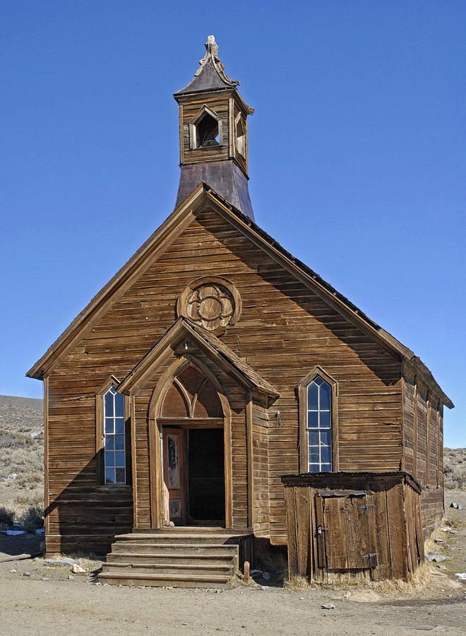 Old Church Bodie Ghost Town Photograph