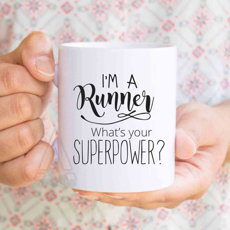 """running gifts """"I'm a runner, what's your superpower""""coffee mug, gifts for runners women, gifts for runners men, gift ideas for runners MU200 by artRuss on Etsy"""