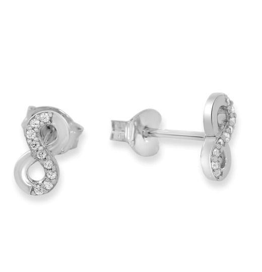 Ohrstecker Zirkonia Ohrringe 925 Silber Blumen Sterne Ohr Schmuck Silberschmuck