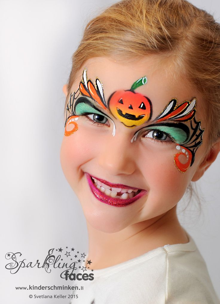 Cute Halloween Face Painting Idea.