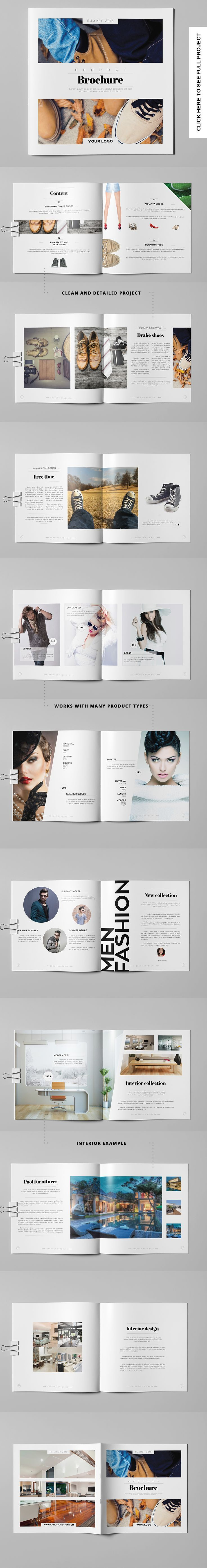 Product Brochure/Photo Book. I love the layout of these pages.