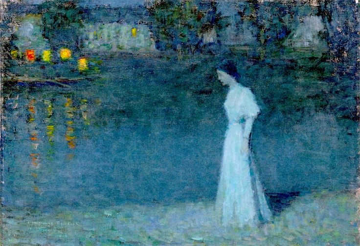 The Athenaeum - Time of Contemplation (Henri Le Sidaner - )