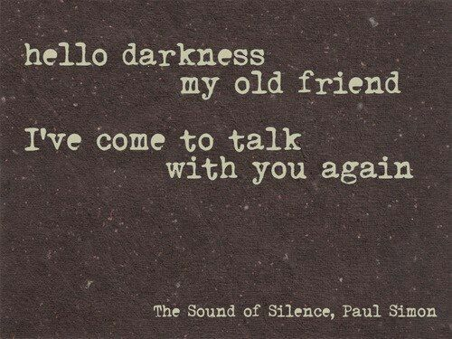sound of silence.