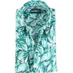 Blue Industry Hemd Floral Green