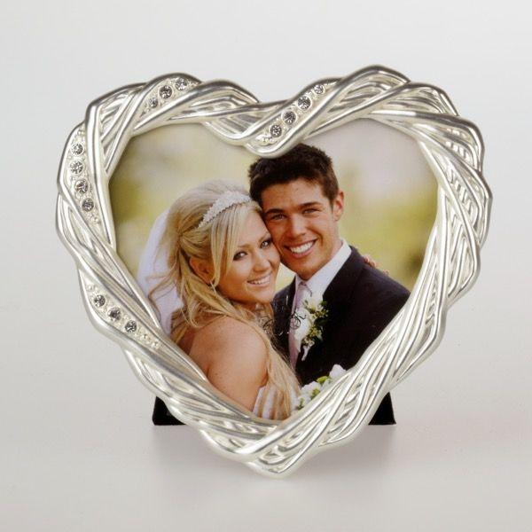 Srebrna ramka serce 10x10 cm | ramka w kształcie serca 30,00 PLN
