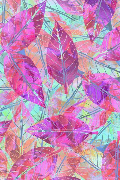 Pink Leaves Art Print