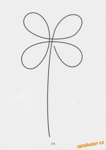 čtyřlístek - jedním tahem