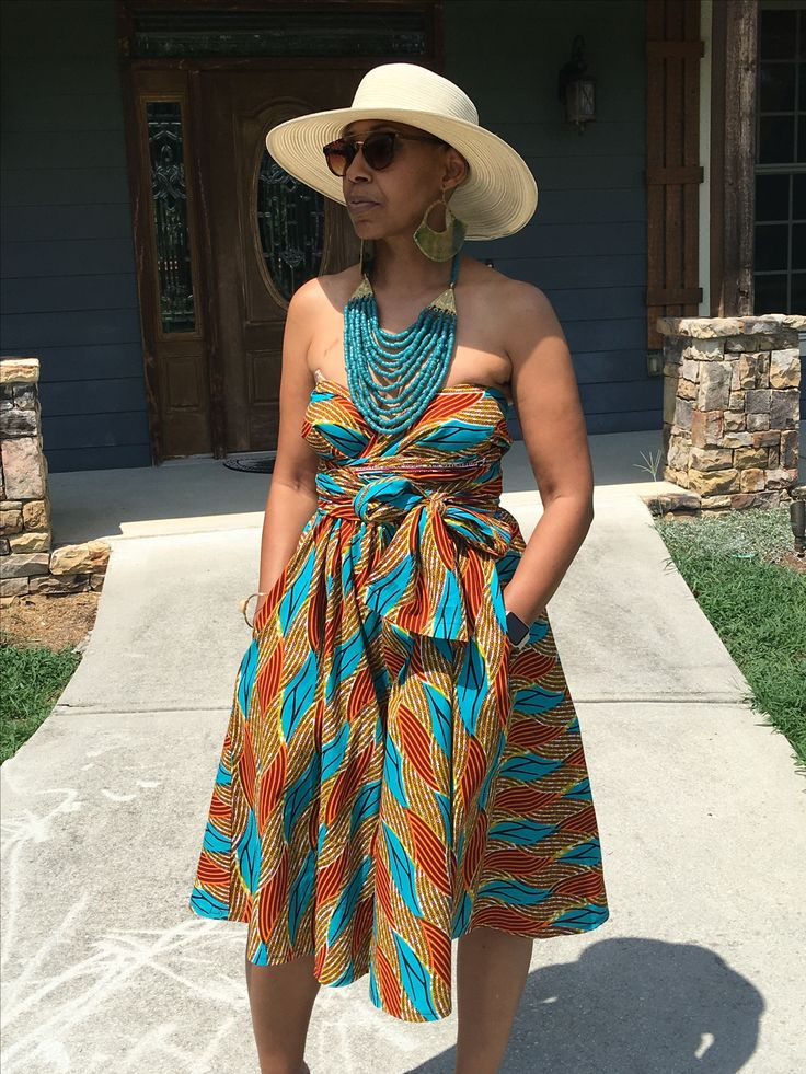 Outdoor Party Outfits African Print Fashion Prints Design Dress Afro Africans Short Long Dresses Crop