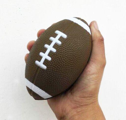 3 шт./лот 13*8 см материал pu пены футбол стресс игрушка, pu регби анти-стресс мяч, регби игрушка, футбол сожмите мяч, расслабиться мяч