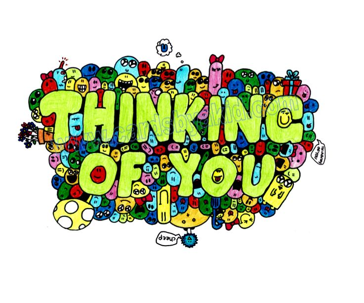 Thinking+of+You+Card+-+Group+of+Blobs